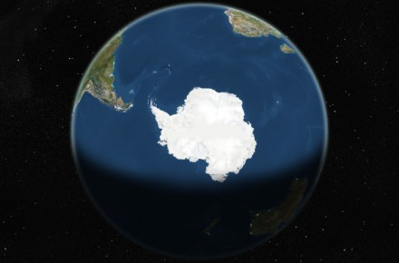 Globe Centred On The South Pole, True Colour Satellite Image